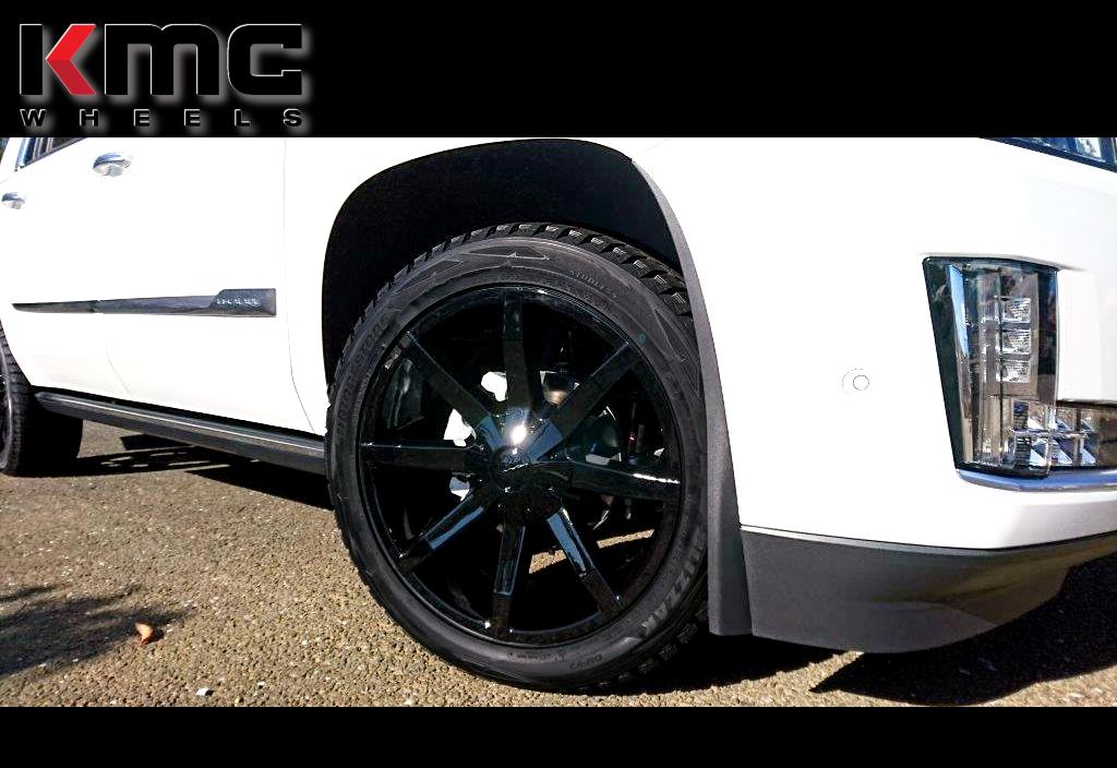 キャデラック エスカレード x KMC KM651スライド 22インチ ブリヂストン ブリザックDM-V2「285/45R22」